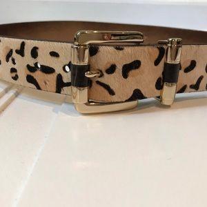 Animal print leather belt by Michael Kors small